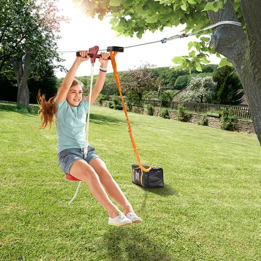 installer une tyrolienne dans son jardin